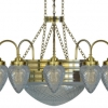 Nine armed ring chandelier